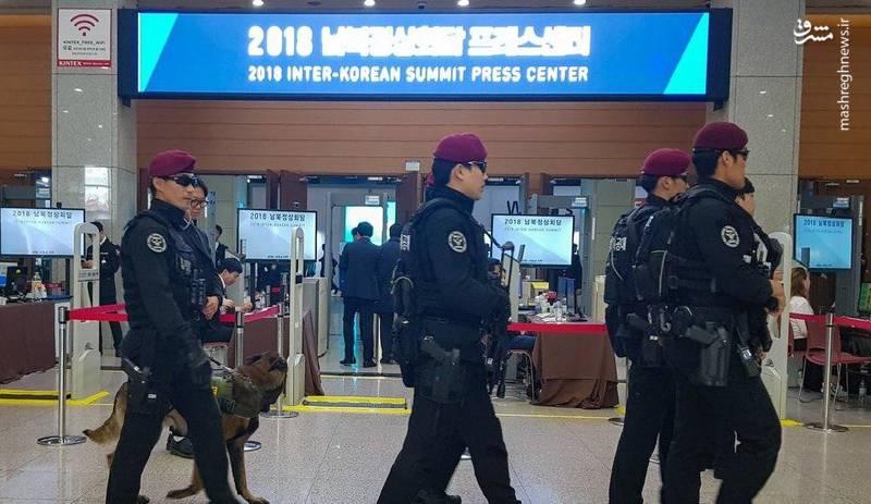 فضای امنیتی محل مذاکره دو کره +عکس