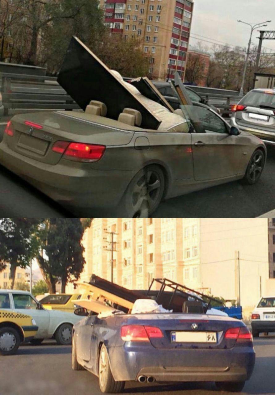 حملبار با خودروی لاکچری در تهران +عکس