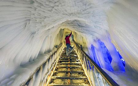 تصاویری از غار نينگوو، غار يخي منحصر بفرد