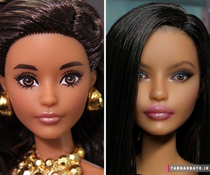 شکل جالب عروسک ها بعد از پاک شدن آرایش !