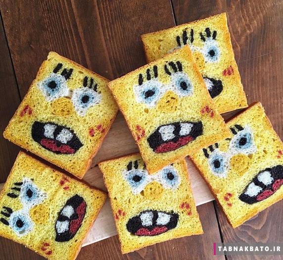خلاقیت مادر ژاپنی در پخت نان!