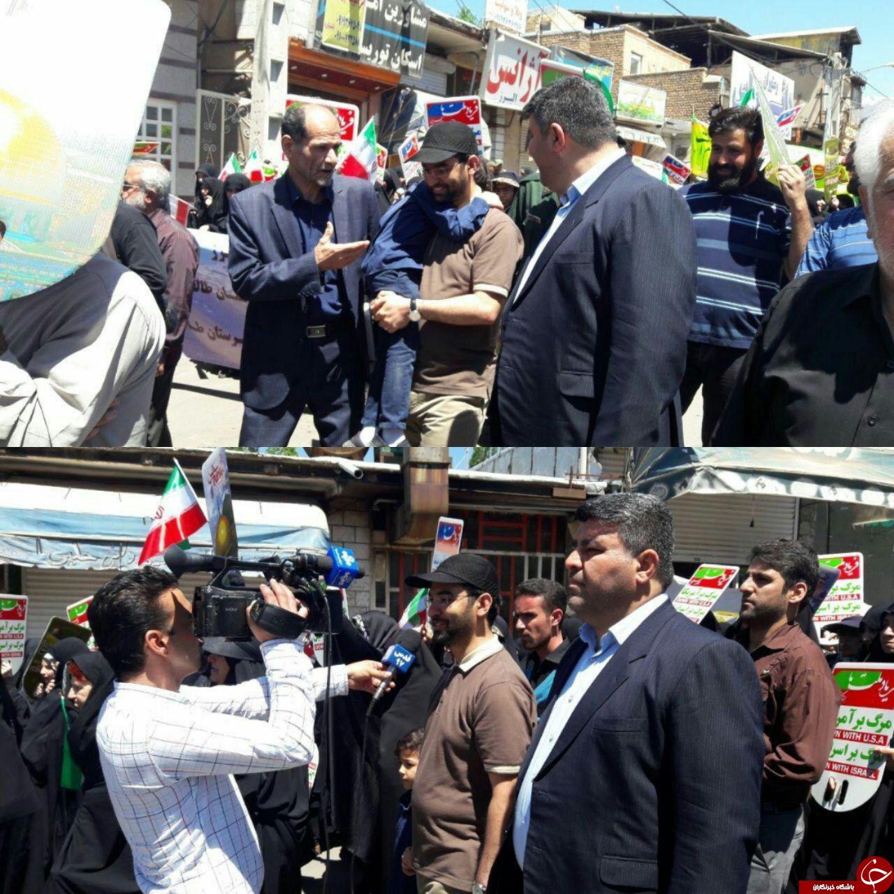 تیپ متفاوت آقای وزیر در راهپیمایی روز قدس +عکس