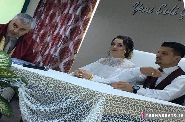 شوخی دردسر ساز عروس در مراسم ازدواج