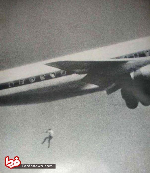 سقوط جوان ۱۴ ساله از هواپیما +عکس