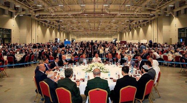 تصاویر مراسم افطاری اردوغان جنجال آفرید