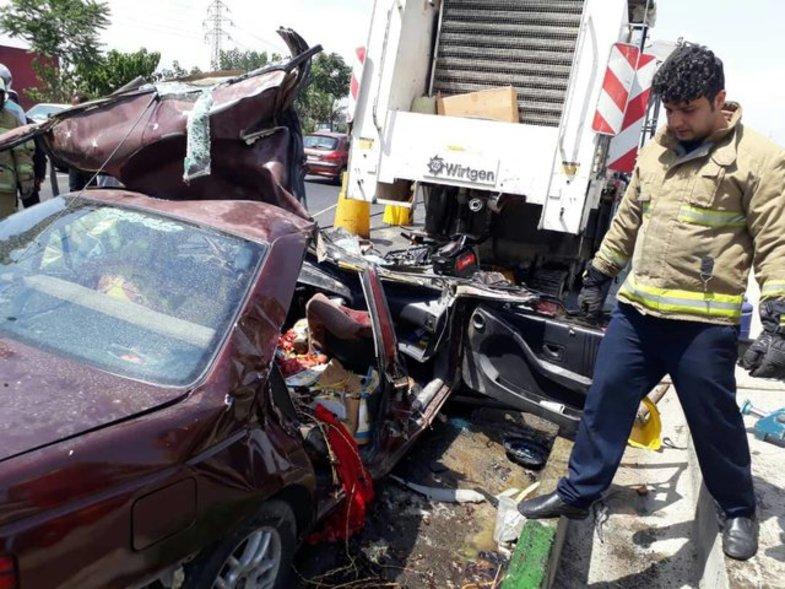 تصادف مرگبار در بزرگراه یاسینی +عکس