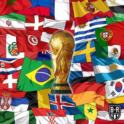 طرحی جالب از پرچم تیمهای حاضر در جام جهانی+عکس