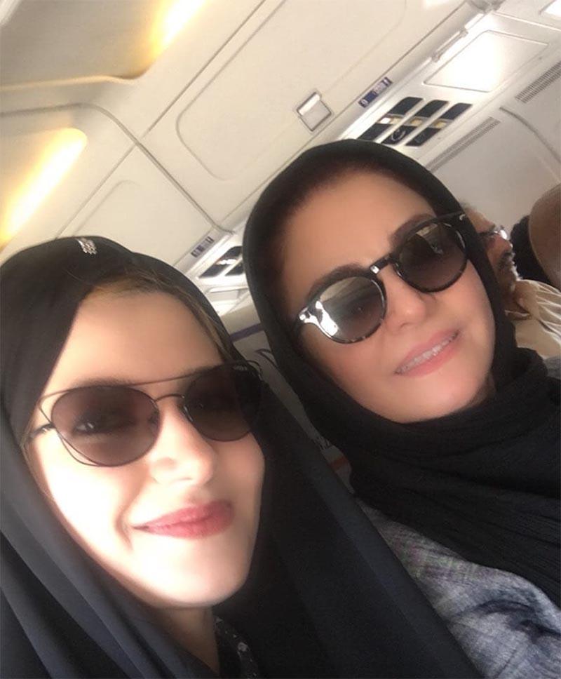 ملیکا و مریلا زارعی ناشناس از مشهد بازگشتند +عکس