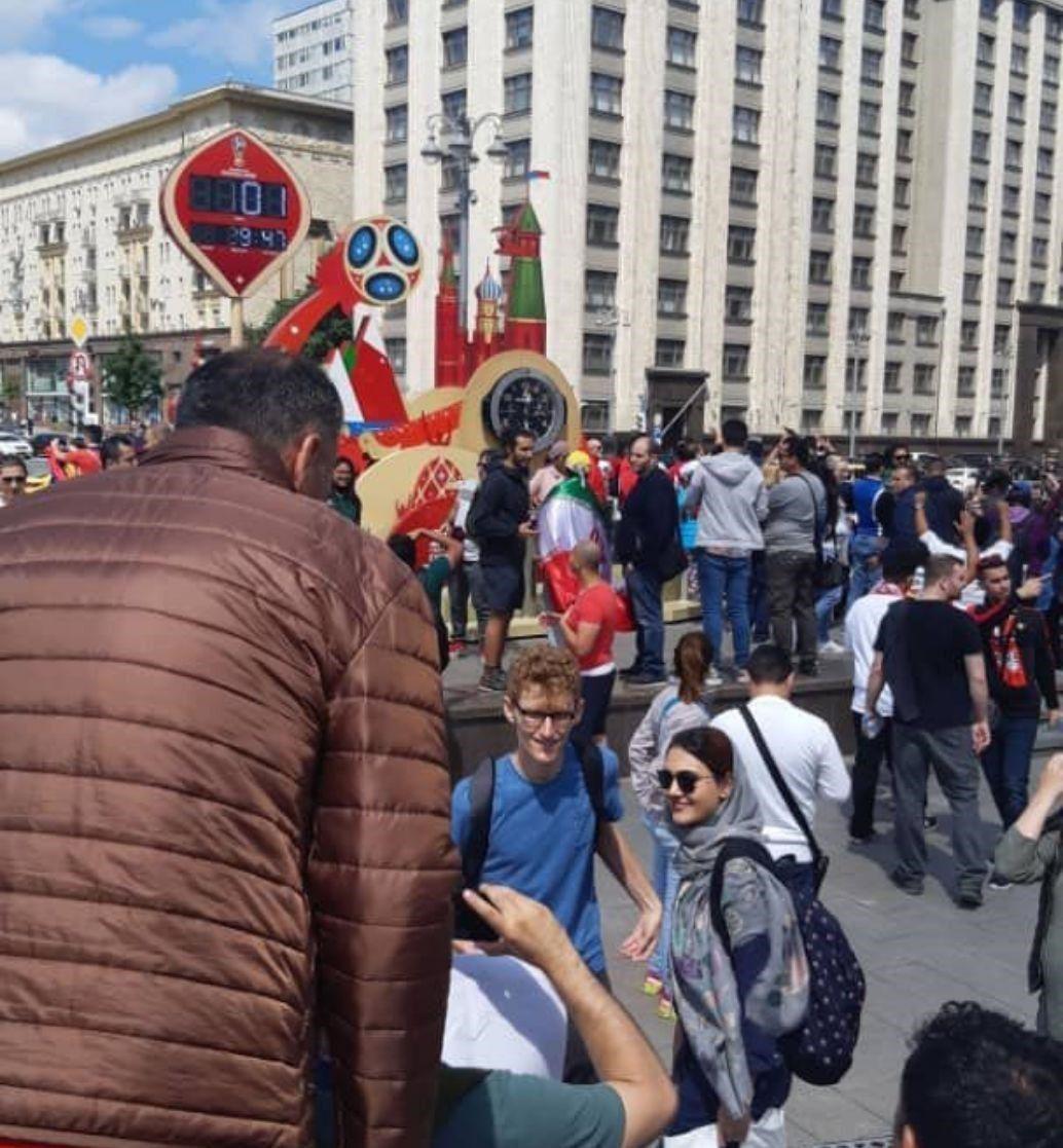 تنها خبرنگار زن ایرانی در روسیه +عکس