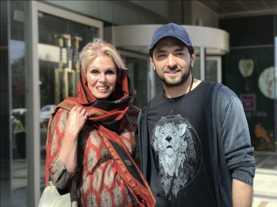 بهرام رادان در کنار بازیگر زنِ انگلیسی+عکس