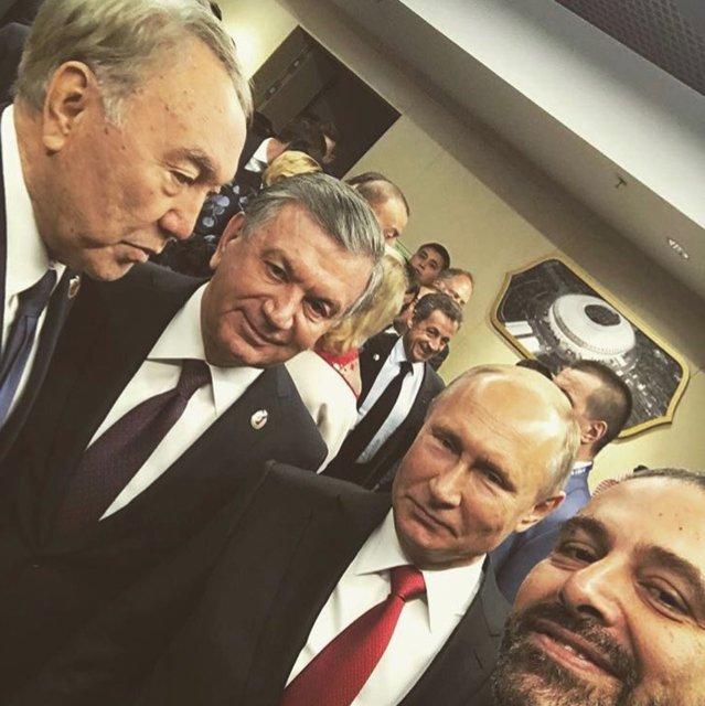 سلفی سه سیاست مدار در افتتاحیه جام جهانی