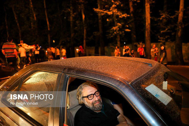 مسعود کیمیایی در کارناوال شادی مردم +عکس