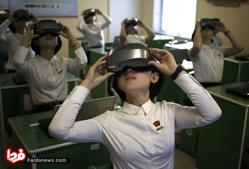 صحنه جالب در دانشگاه تربیت معلم کره شمالی +عکس