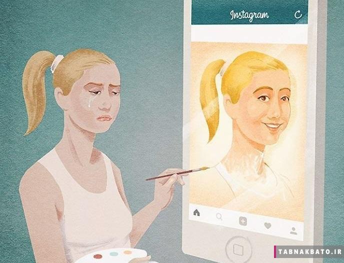 هنرمند ایتالیایی واقعیت اندوهناک زندگی مدرن را به تصویر می کشد