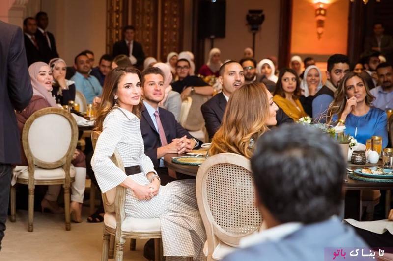 ملکه ی اردن افطاری داد