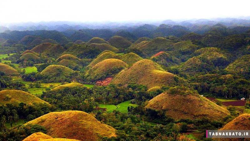 تپه های شکلات در فیلیپین؛ زیبایی شگفت انگیز طبیعت