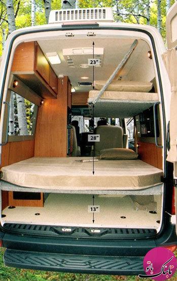 چیدمان داخلی خودروهای مسافرتی