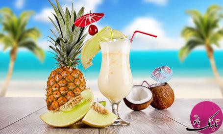 کوکتل آناناس و نارگیل، لذیذ و گوارا