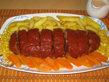 طرز تهیهی رولت گوشت و سبزیجات