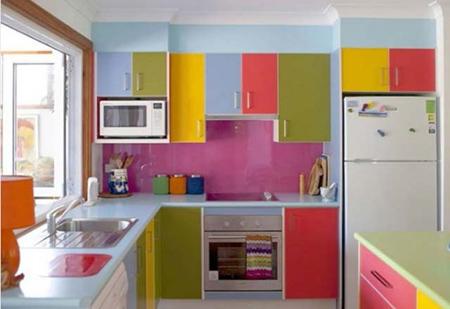 پیشنهادهایی برای دکوراسیون رنگی آشپزخانه
