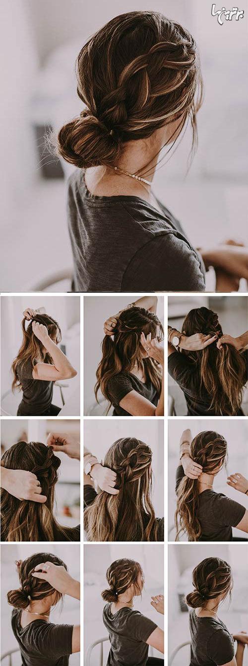 آموزش بستن مدل های زیبا و ساده مو در خانه