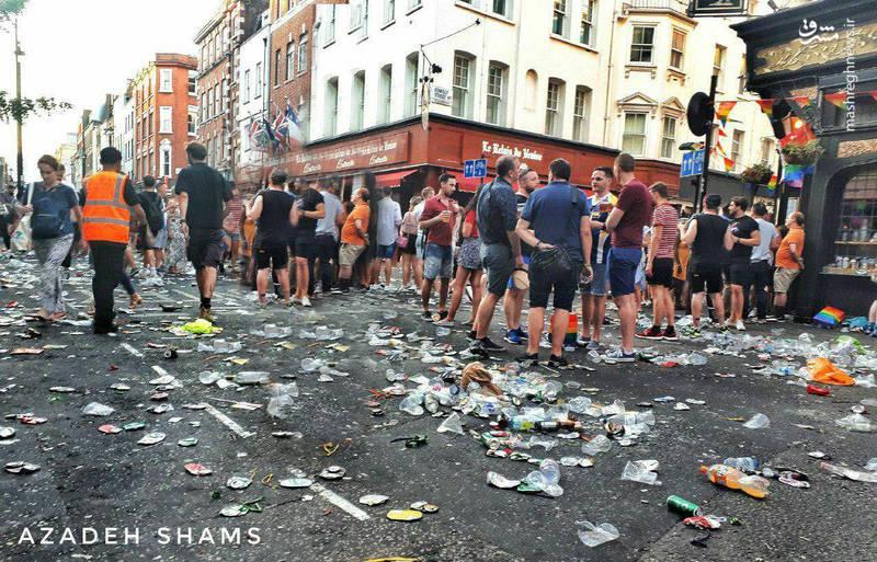 خیابانهای لندن پس از رژه همجنسبازها
