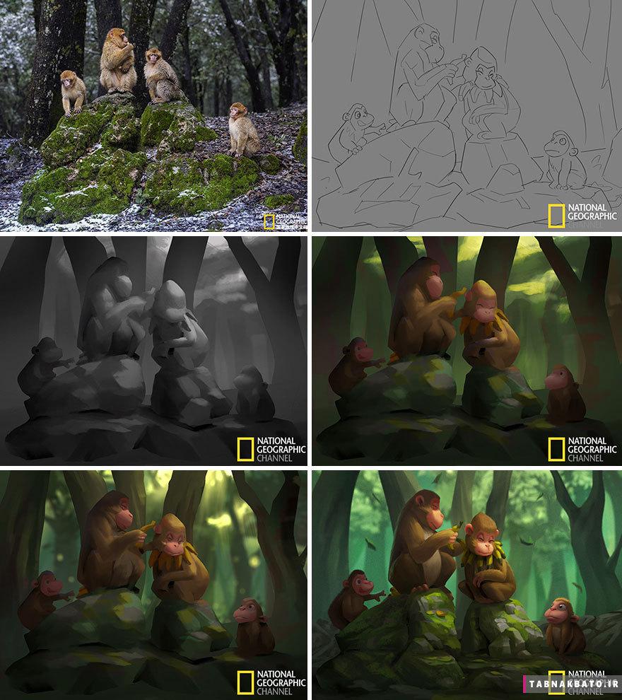 تبدیل عکسهای نشنال جئوگرافی به کارتون