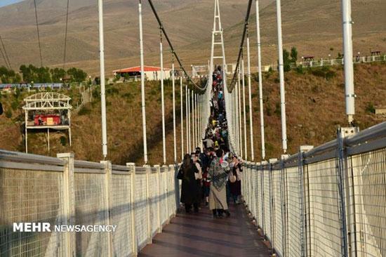 طولانیترین پل معلق خاورمیانه در مشکین شهر+عکس