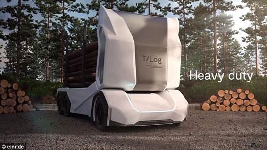 کامیون بدون راننده سوئدی ۱۶ تن بار میبرد +عکس