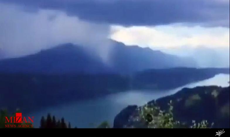 تصاویر زیبای بارش باران از ابر اختصاصی