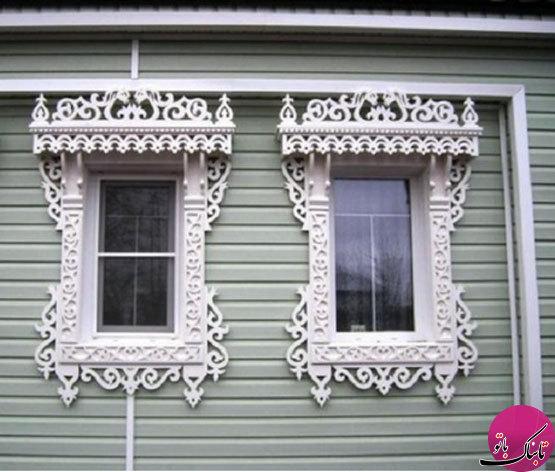 طراحی زیبای پنجرهها در خانههای سنتی روسی