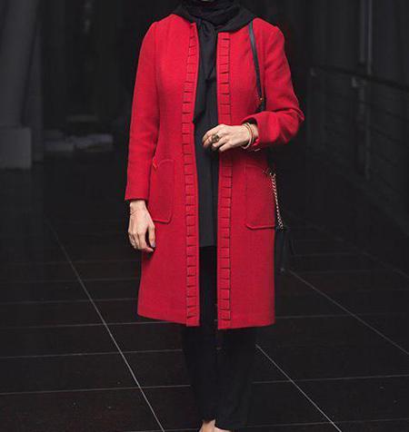 مدل مانتو قرمز