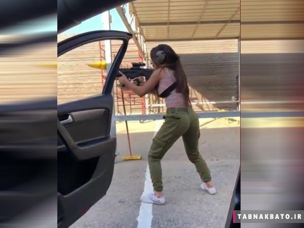 تیراندازی سرباز اسرائیلی در چالش کیکی+ فیلم