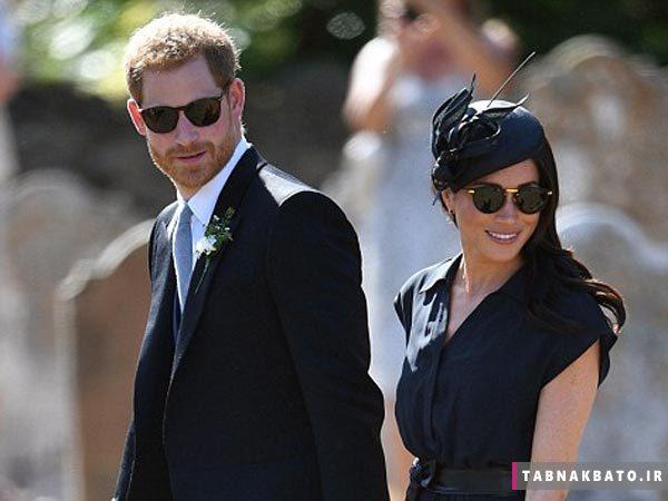 کفش های پاره شاهزاده هری در یک مراسم عروسی