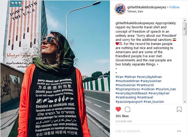 عذرخواهی توریست آمریکایی از مردم ایران +عکس