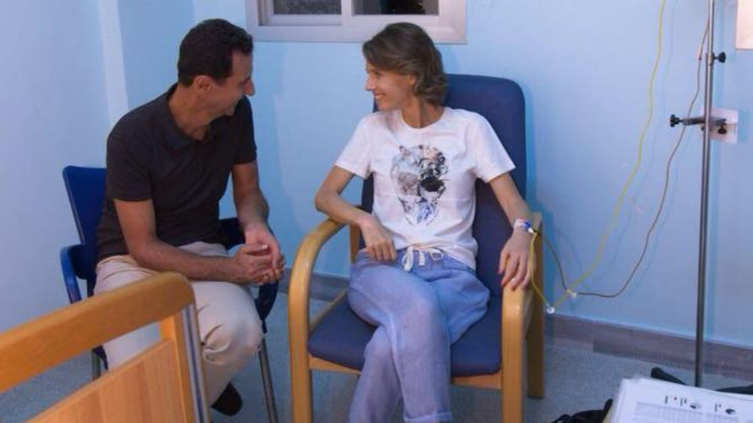 ابتلای همسر بشار اسد به بیماری سرطان +عکس