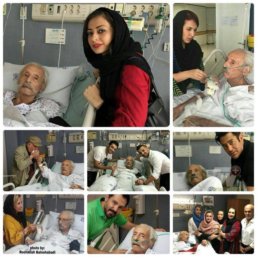 سلفی جنجالی سلبریتی ها با جمشید مشایخی در بیمارستان