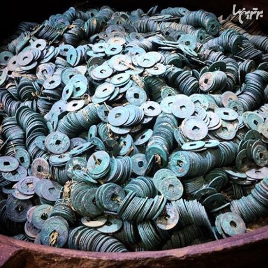 کشف ۲۰۰۰۰۰ سکه برنزی متعلق به یک سامورایی +عکس