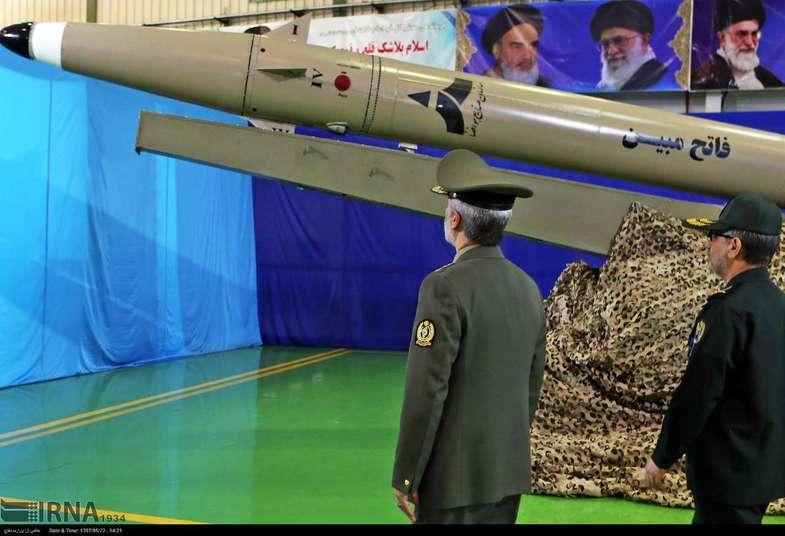 رونمایی از موشک نقطه زن جدید ایران +عکس