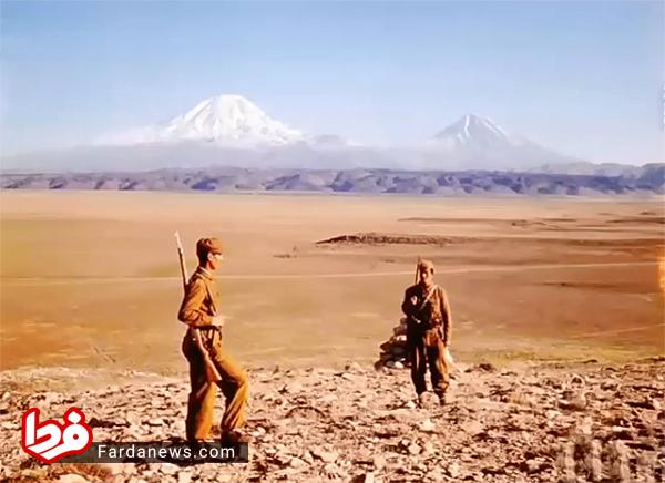 چشمانداز زیبای قله آرارات در سال ۱۳۳۵ +عکس