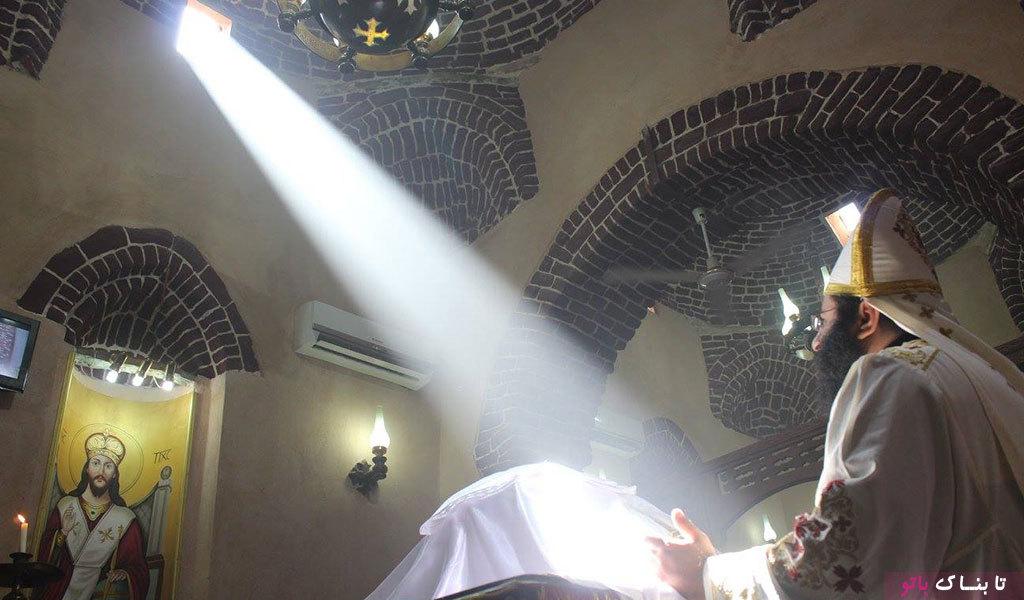پدیده ی نجومی در یک کلیسای مصری