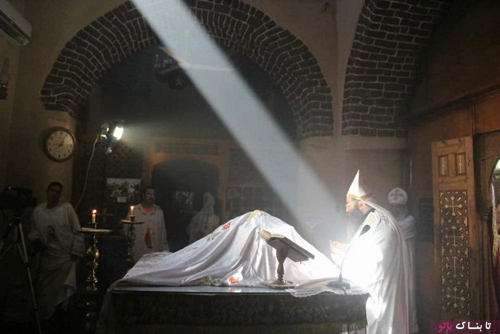 بحث درباره پدیده نجومی نادر در یک کلیسای مصری