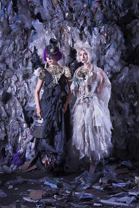 لباس هایی که با زباله های ساحلی ساخته شده اند