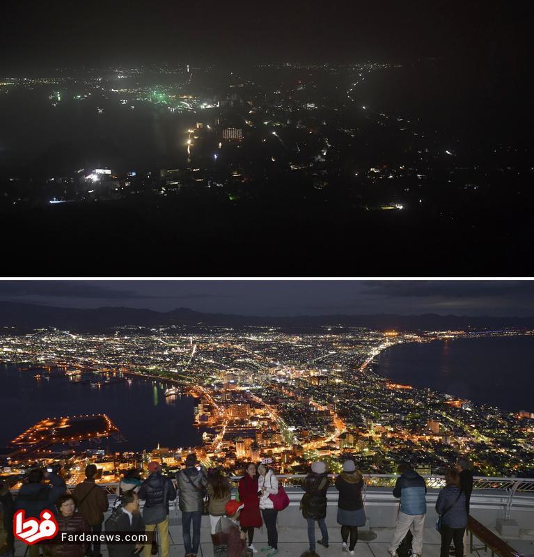 عکس تکاندهنده از هوکایدوی ژاپن قبل و بعد از زلزله