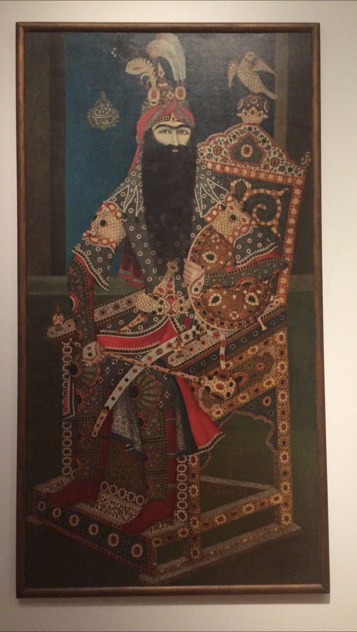 پرتره بزرگ فتحعلی شاه در کانادا +عکس