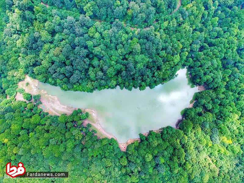 عکس زیبای هوایی از دریاچه چورت