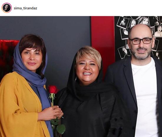 سیما تیرانداز درکنار بازیگر زن جنجالی+عکس