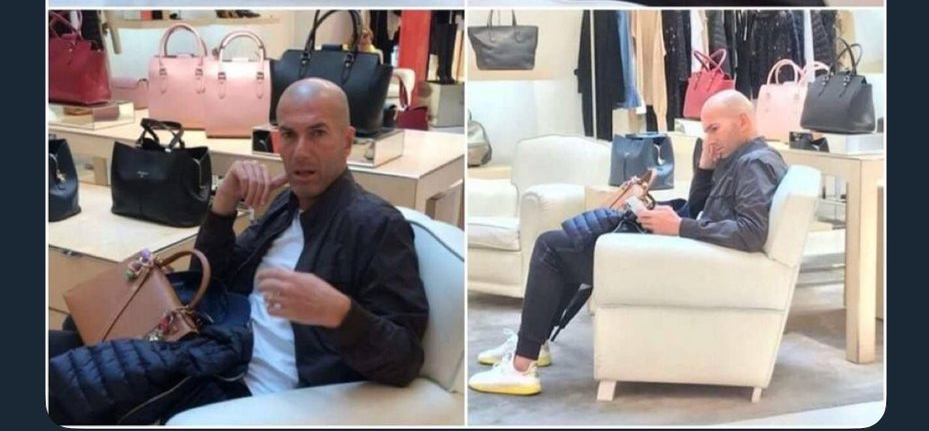 سرمربی معروف خسته و کلافه از خرید برای همسرش+عکس