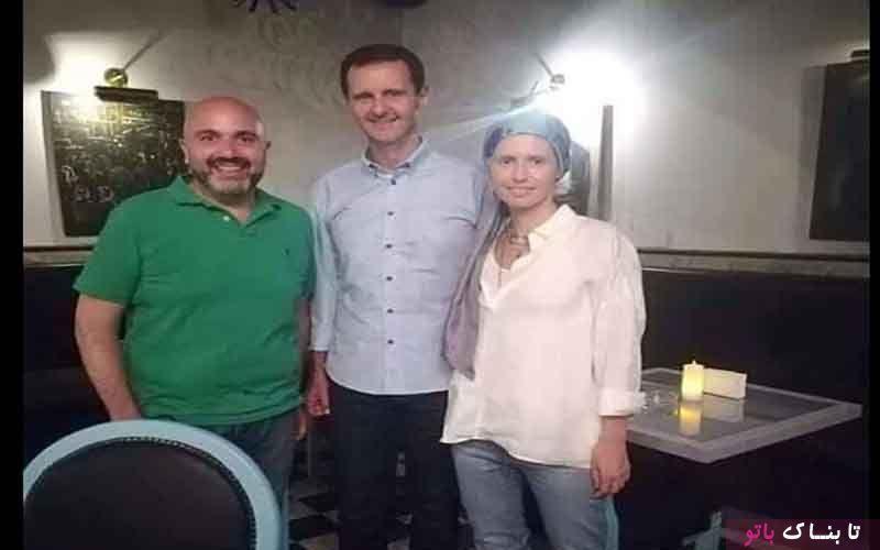 حجاب خاص همسر بشار اسد در یک رستوران