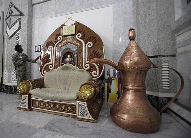 کلانیشکوف طلایی صدام +عکس